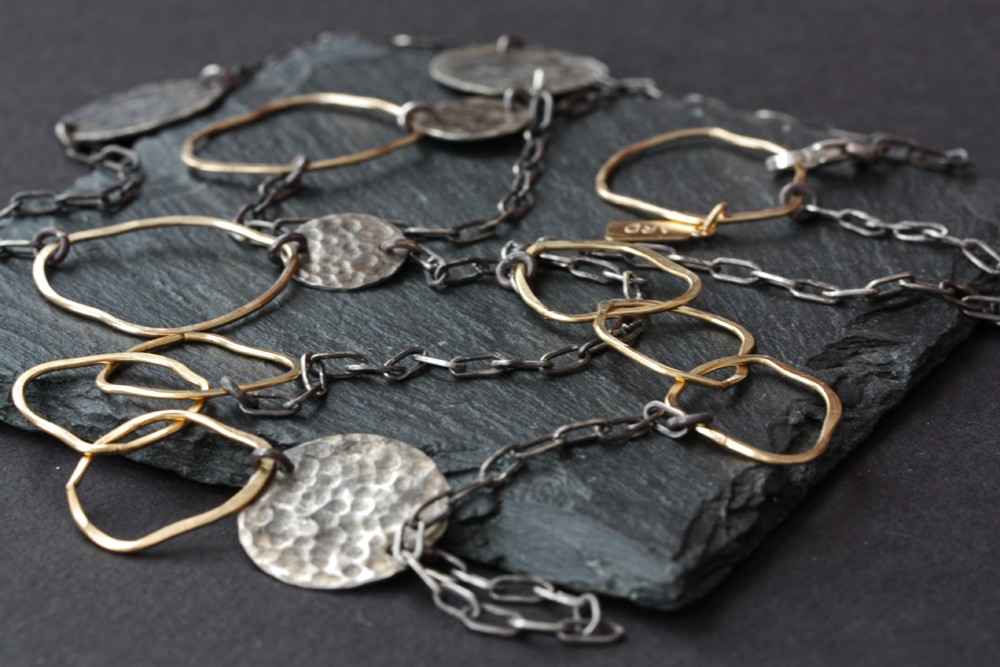 Gold and Silver Necklace by Alexis Russell