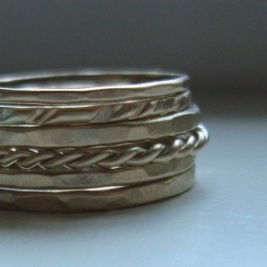 Rustic Gold Stacking Rings by tinahdee