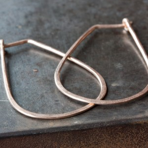Small Horseshoe Hoop Earrings by Alexis Russell