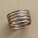 Mixed Metals Rings, Super Slender Stacking Rings