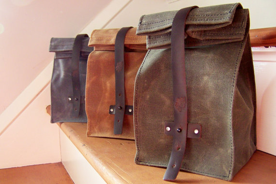 Waxed Canvas Lunch Bag by Katie Faragher