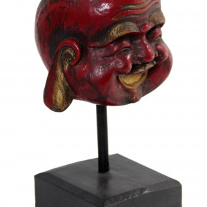 Antique Style Red Buddha Sculpture, 'Laughing Red Buddha'
