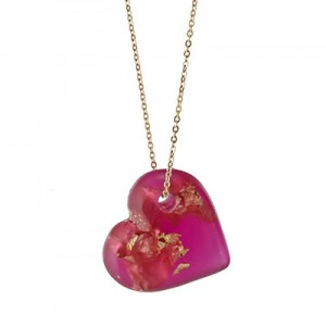 Red Heart of Gold Necklace