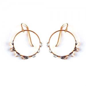 Glass Hoop Earrings by Jess Panza