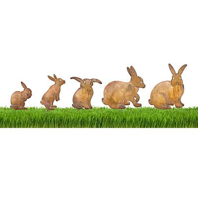 Bunny Garden Decor by Chris Crooks