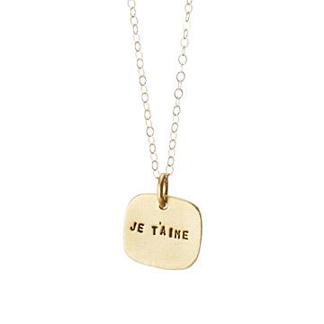 christine je t aime necklace