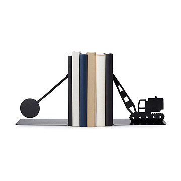 Eric gross wrecking ball bookends - Portal bookend ...