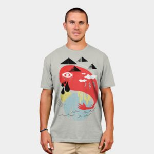 abstract design men's t-shirt