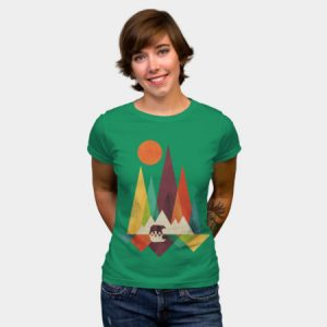 Abstract Mountains Women's T-Shirt