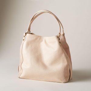 Handmade Pebbled Leather Sachel Bag
