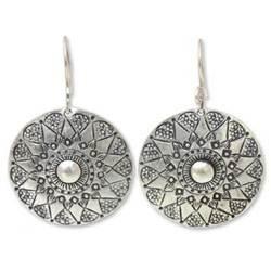Sterling Silver Dangle Earrings by Achara