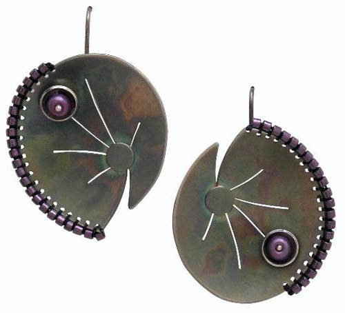 Chihiro Makio Silver & GlassBead Earrings
