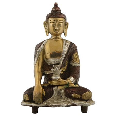 Handmade Seated Buddha in Lotus Position