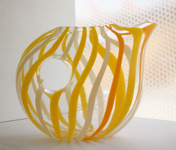 Hand blown glass pitcher by CharlieJenkins
