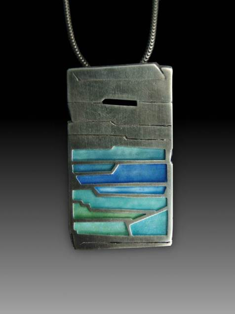 Rock Layers Pendant No. 425 by Carly Wright