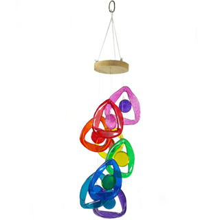 Recycled Glass Bottle Wind Chime : Rainbow