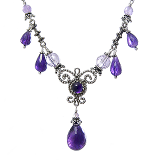 Upscale Bohemian Necklace in Amethyst