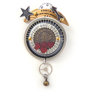 Vintage Watchworks Brooch