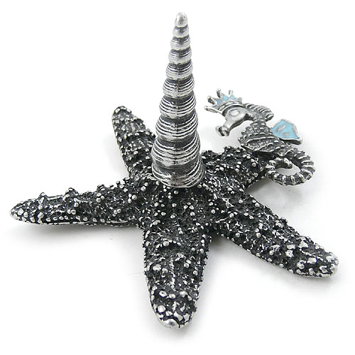 Pewter Starfish Ring Holder