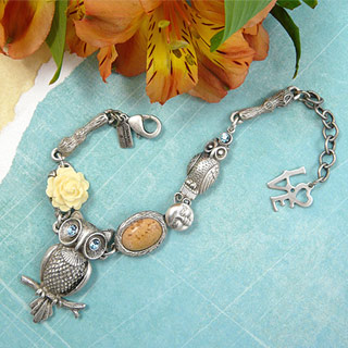 Night Owl Pewter Bracelet
