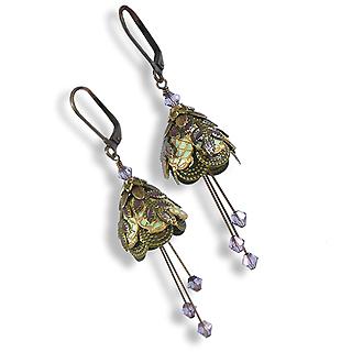 Floral Fairy Earrings : Italian Courtesan