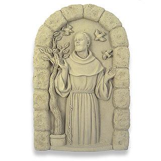 Saint Francis Concrete Garden Plaque