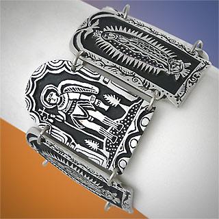 Catholic Icons Pewter Bracelet