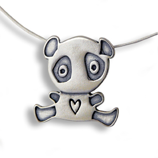 Sterling Silver Panda Bear Necklace