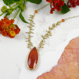 Tangerine Tango Pendant Necklace
