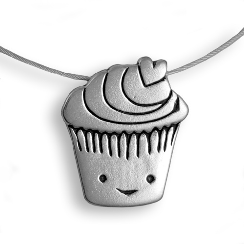 Sterling Silver Love Muffin Necklace