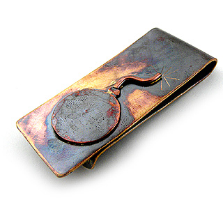 Handcrafted Bronze Bomb Money Clip