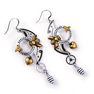 Busy Bees Clockwork Earrings