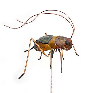 Copper Cricket Garden Stake