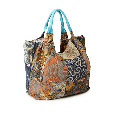 Upcycled Indonesian Batik Bag