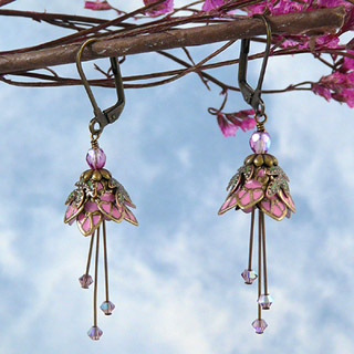 Floral Fairy Earrings : Pink Sprite