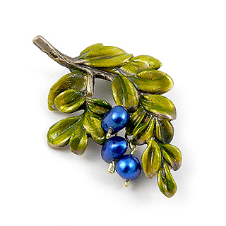 Blueberry Branch Brooch