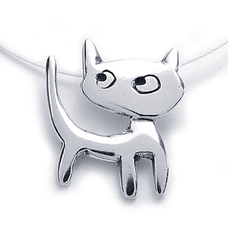 Catitude Sterling Silver Necklace