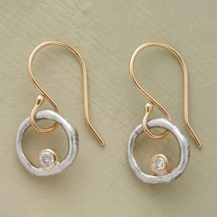 Diamonds in Orbit Earrings