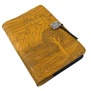 Camelot Refillable Embossed Leather Journal