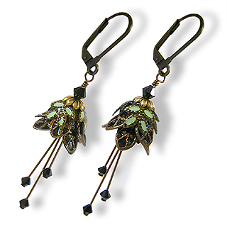 Floral Fairy Earrings : Evening Blossom
