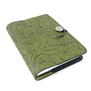 Acanthus Leaf Embossed Leather Journal