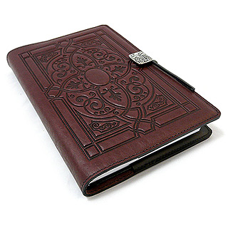 Wine Florentine Embossed Leather Journal