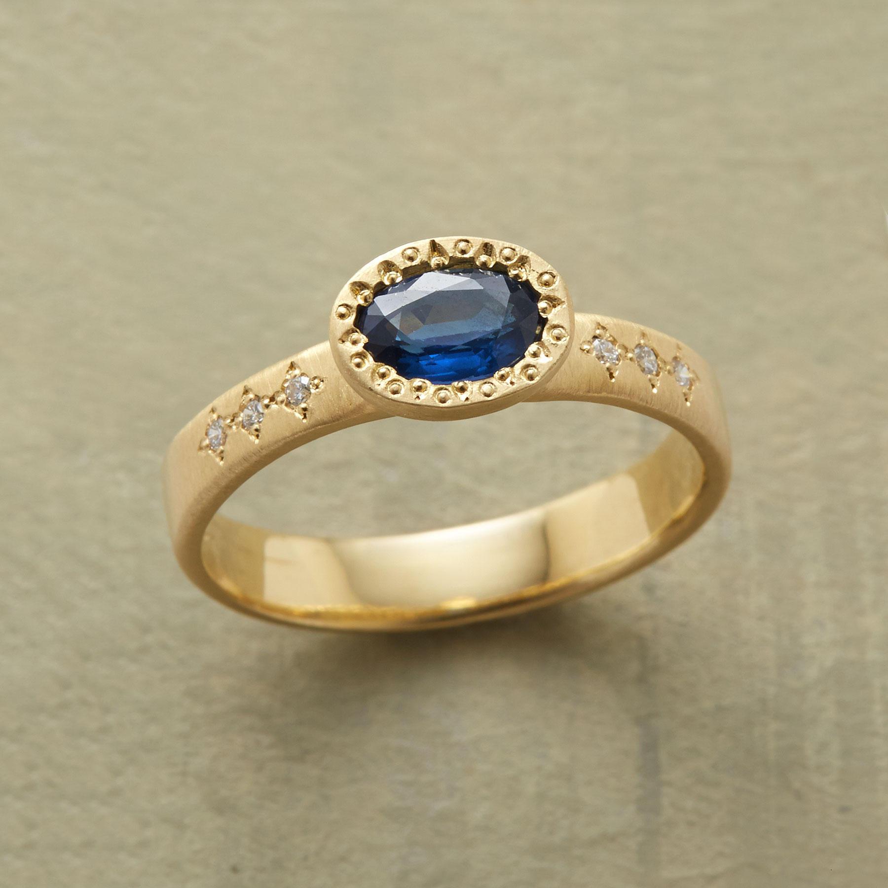 Zou Zou Sapphire Ring .
