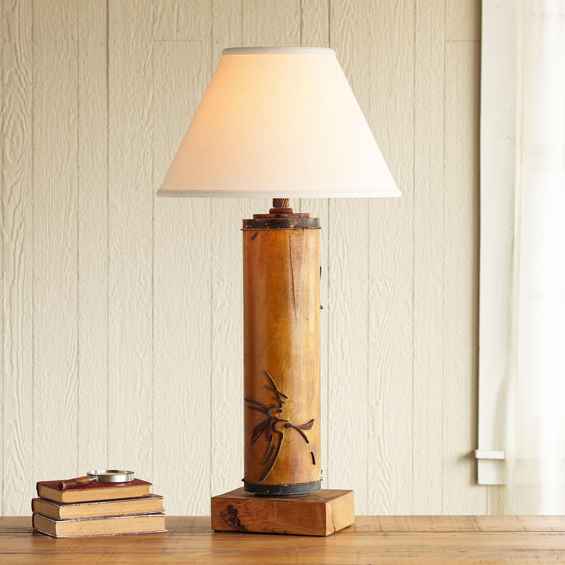 One-of-a-kind Highclere Vintage Roller Lamp