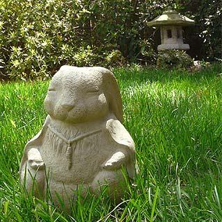 Meditating Rabbit Statue