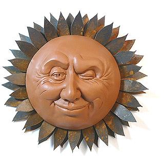 Winking Sun Garden Sculpture