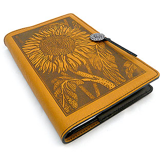 Sunflowers Embossed Leather Journal