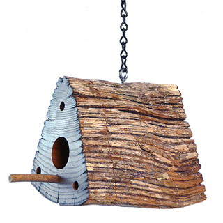 Chestnut Split Rail Fence Bird House