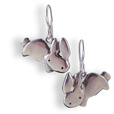 Sterling Silver Love Bunny Earrings