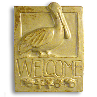 Pelican Ceramic Welcome Sign